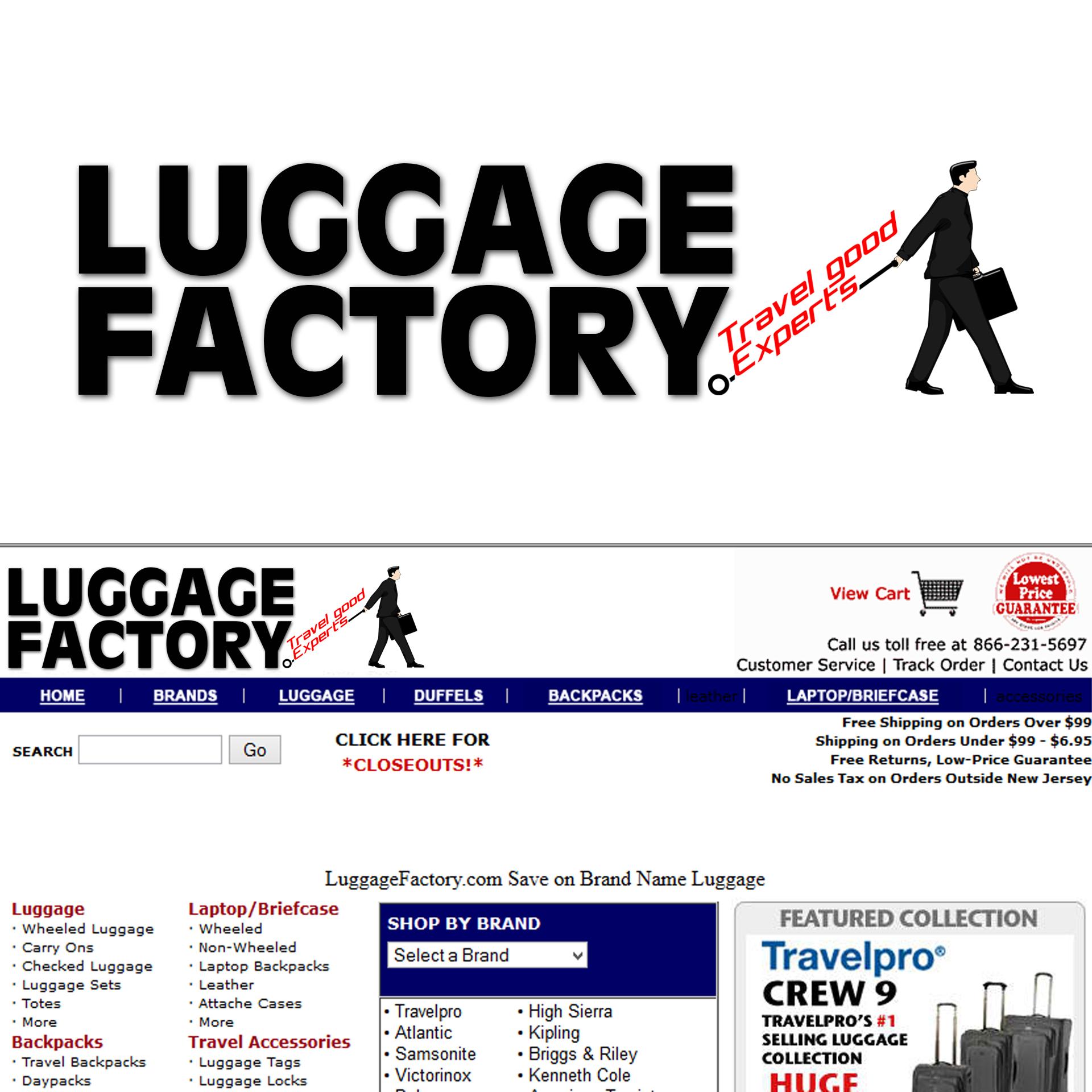 Logo Design by chAnDOS - Entry No. 105 in the Logo Design Contest Creative Logo Design for Luggage Factory.