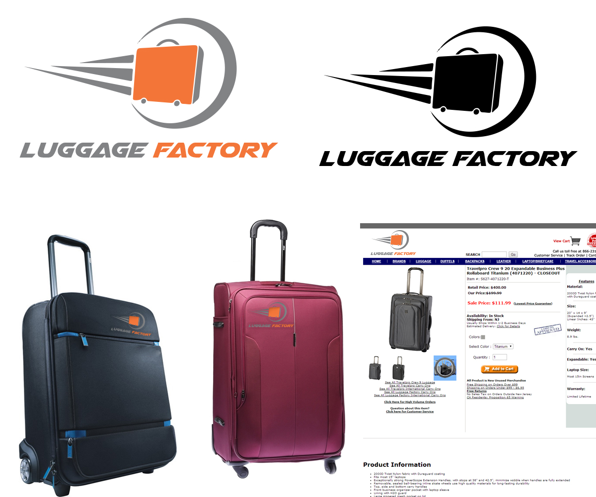 Logo Design by Umang Rathi - Entry No. 107 in the Logo Design Contest Creative Logo Design for Luggage Factory.