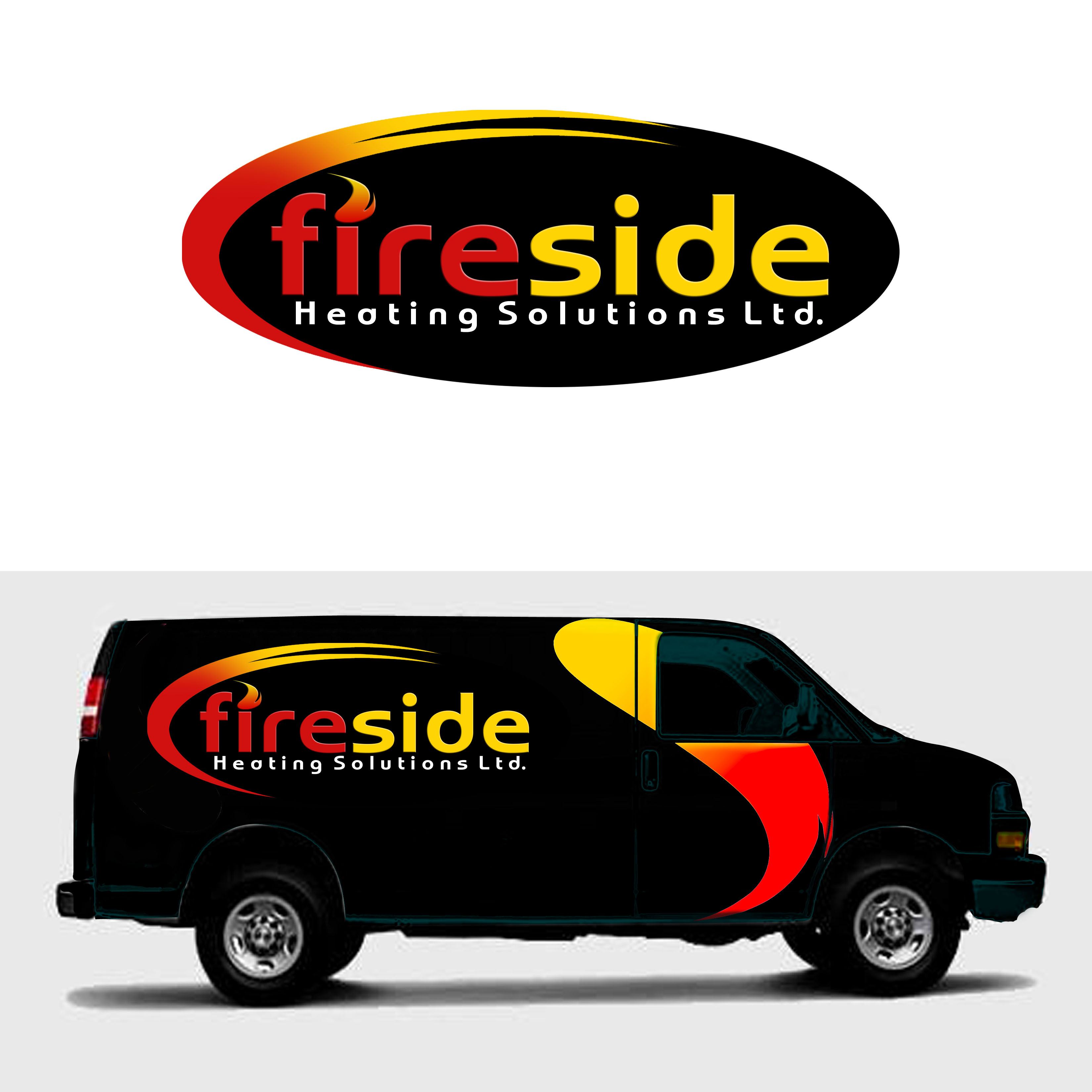 Logo Design by Allan Esclamado - Entry No. 180 in the Logo Design Contest Creative Logo Design for Fireside Heating Solutions Ltd..