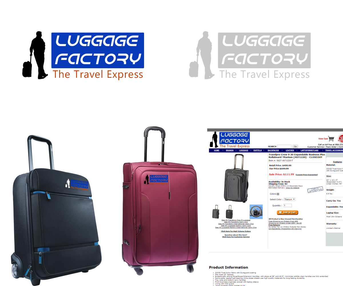 Logo Design by Umang Rathi - Entry No. 108 in the Logo Design Contest Creative Logo Design for Luggage Factory.