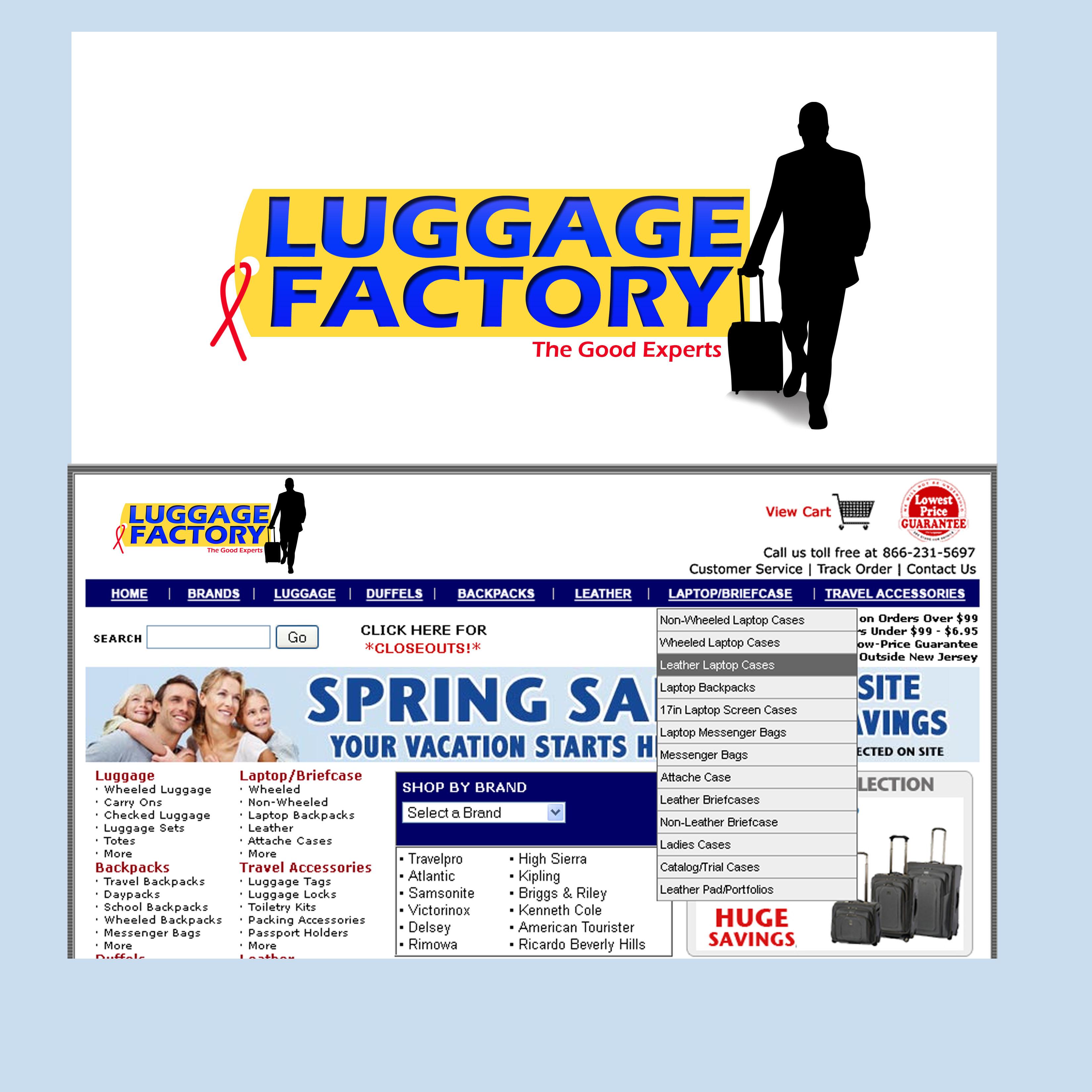 Logo Design by Allan Esclamado - Entry No. 109 in the Logo Design Contest Creative Logo Design for Luggage Factory.