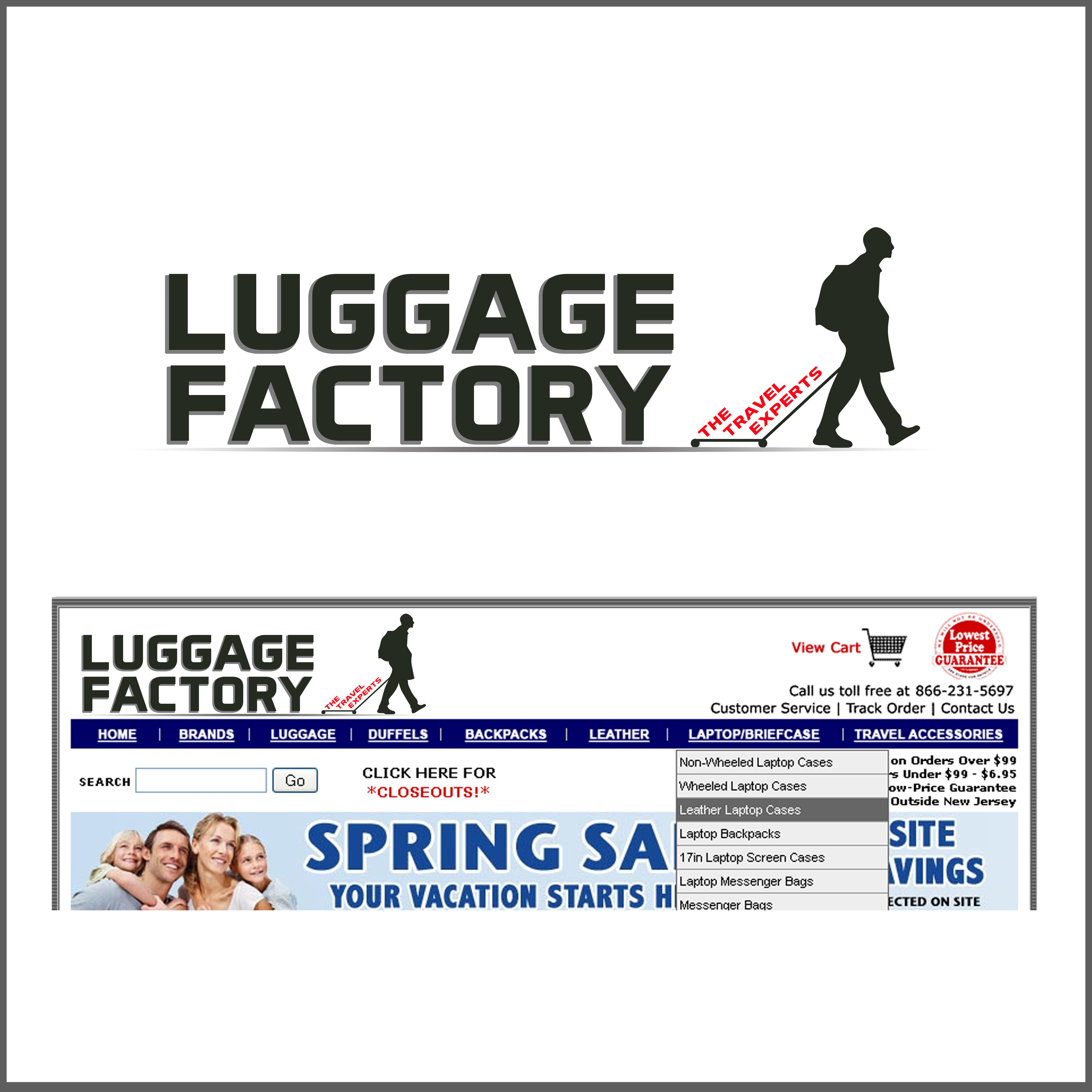Logo Design by Allan Esclamado - Entry No. 130 in the Logo Design Contest Creative Logo Design for Luggage Factory.