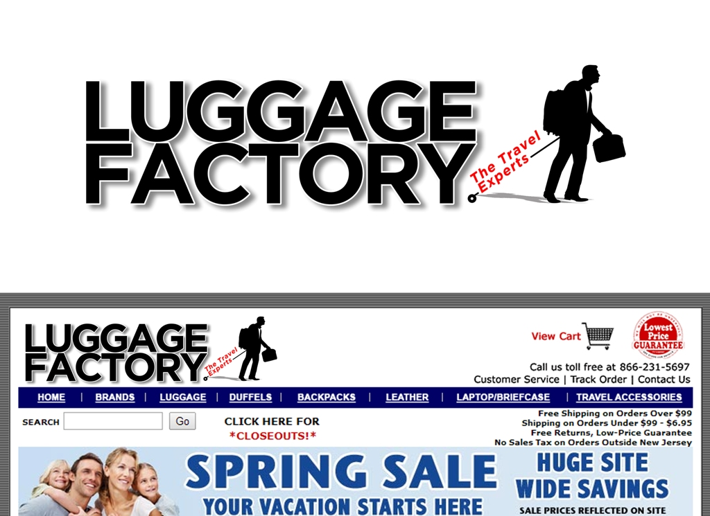 Logo Design by Juan_Kata - Entry No. 131 in the Logo Design Contest Creative Logo Design for Luggage Factory.
