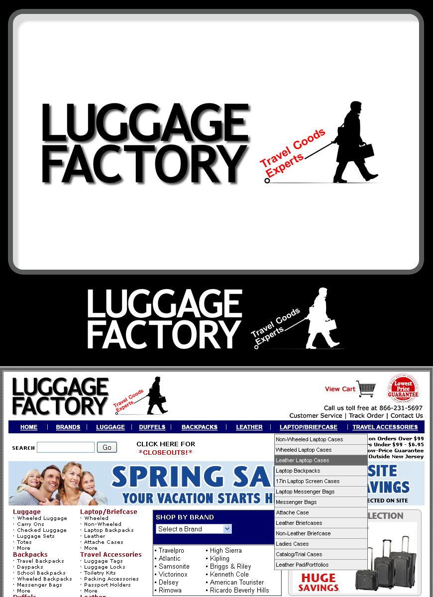 Logo Design by Robert Turla - Entry No. 133 in the Logo Design Contest Creative Logo Design for Luggage Factory.