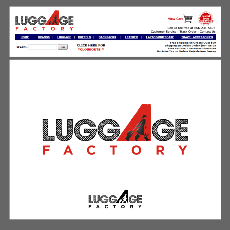 Logo Design by graphicleaf - Entry No. 143 in the Logo Design Contest Creative Logo Design for Luggage Factory.