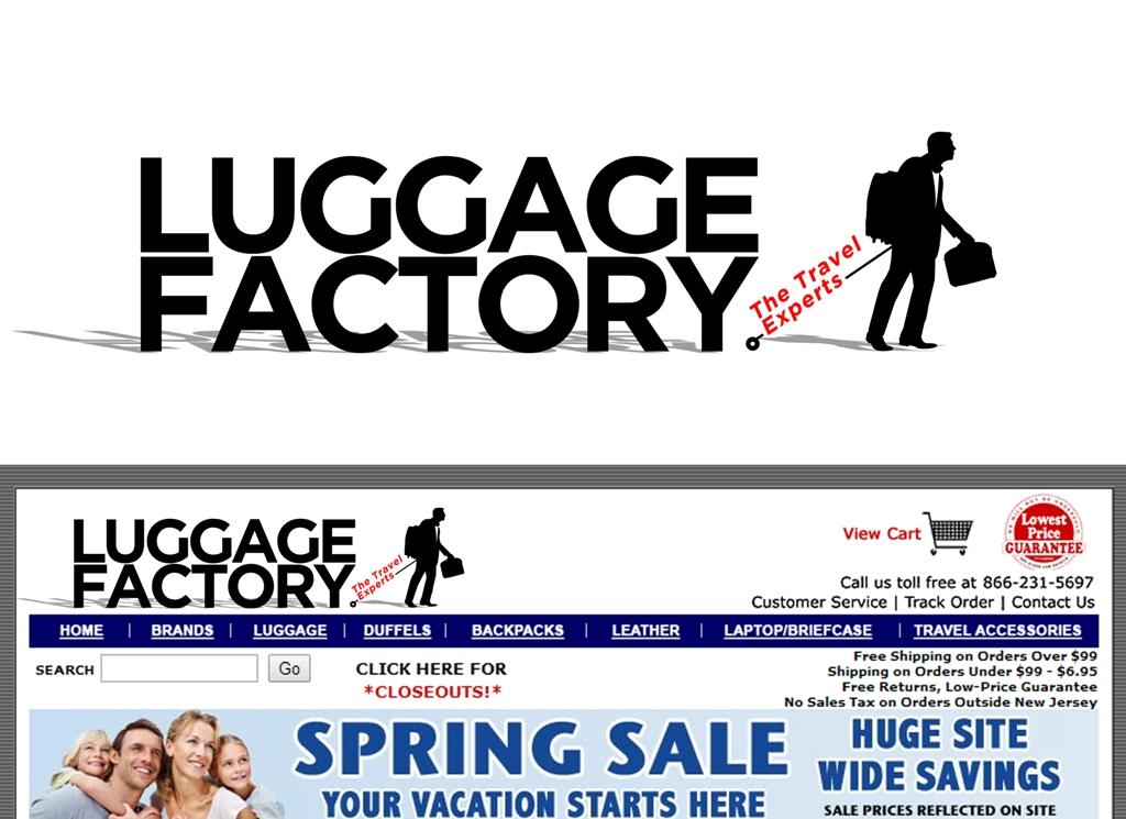 Logo Design by Juan_Kata - Entry No. 150 in the Logo Design Contest Creative Logo Design for Luggage Factory.