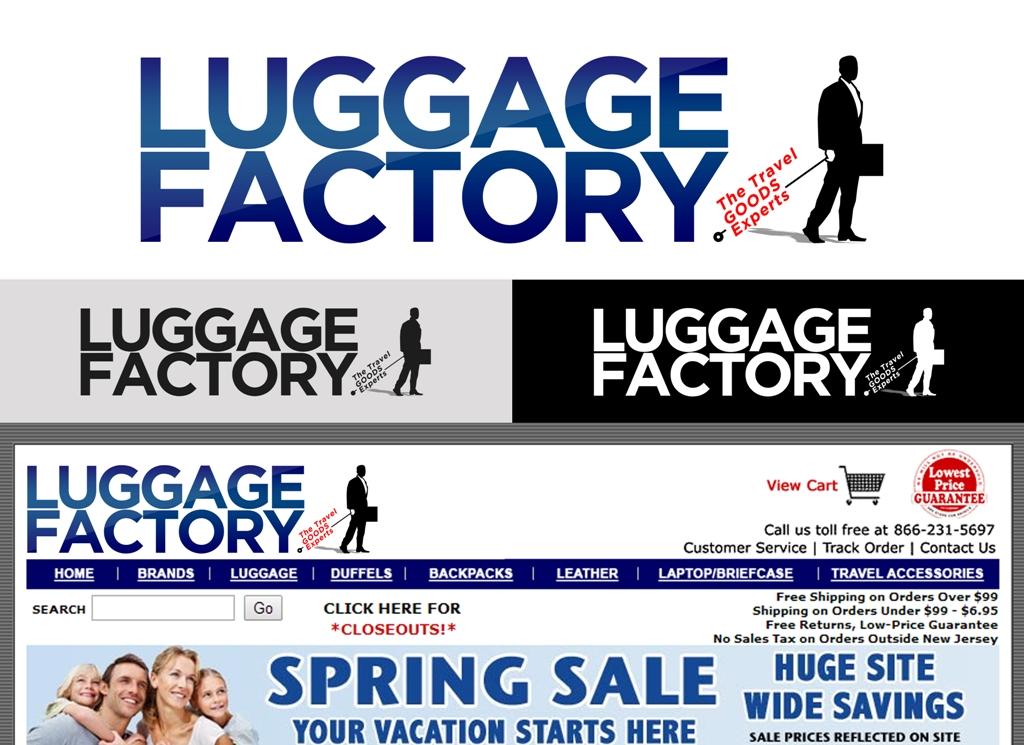 Logo Design by Juan_Kata - Entry No. 154 in the Logo Design Contest Creative Logo Design for Luggage Factory.