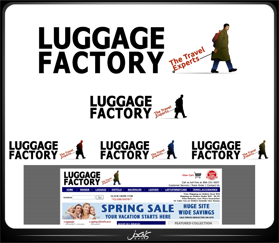 Logo Design by joca - Entry No. 155 in the Logo Design Contest Creative Logo Design for Luggage Factory.