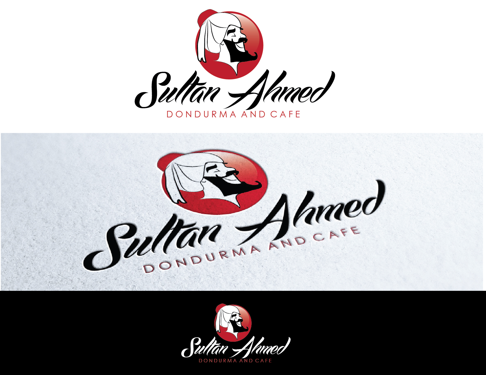 Logo Design by Milena Str - Entry No. 52 in the Logo Design Contest Unique Logo Design Wanted for Sultan Ahmed Dondurma and Cafe.