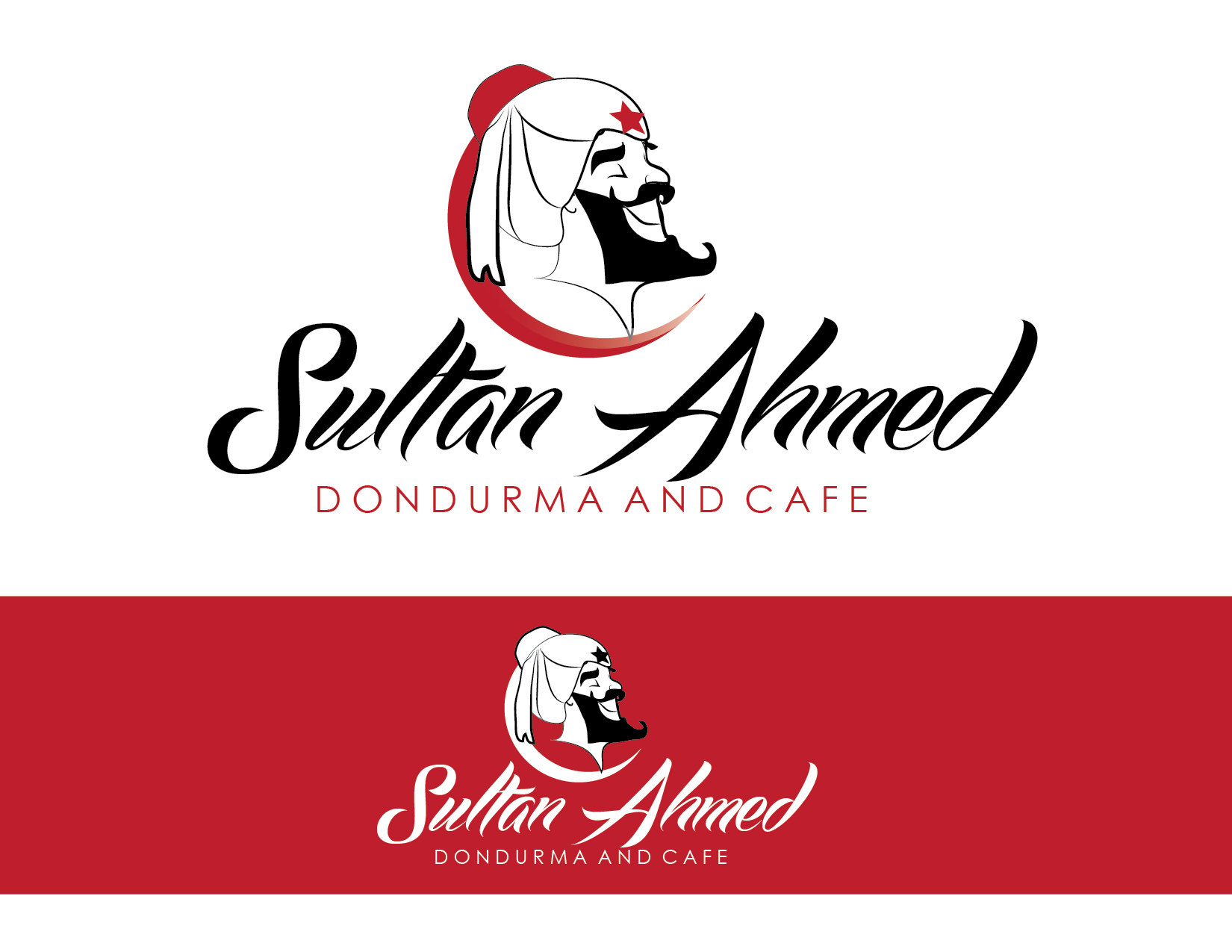 Logo Design by Milena Str - Entry No. 53 in the Logo Design Contest Unique Logo Design Wanted for Sultan Ahmed Dondurma and Cafe.