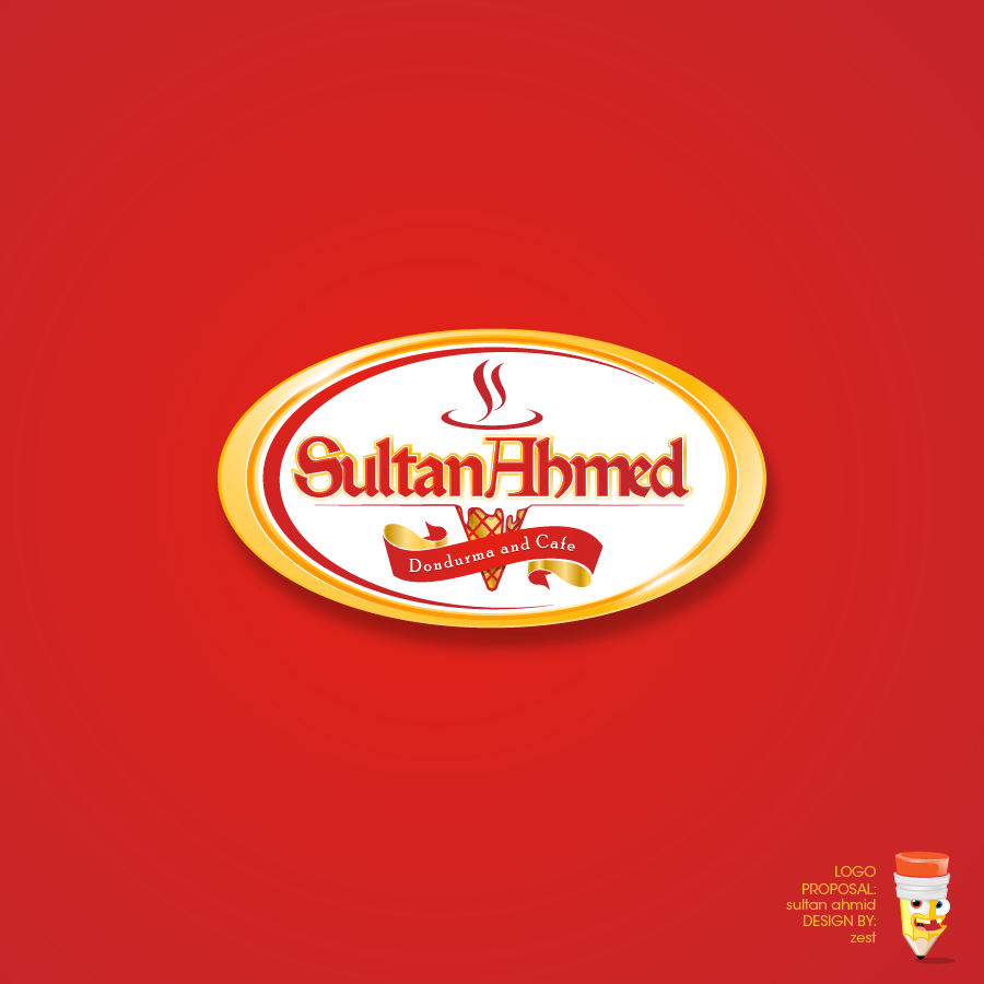 Logo Design by zesthar - Entry No. 65 in the Logo Design Contest Unique Logo Design Wanted for Sultan Ahmed Dondurma and Cafe.