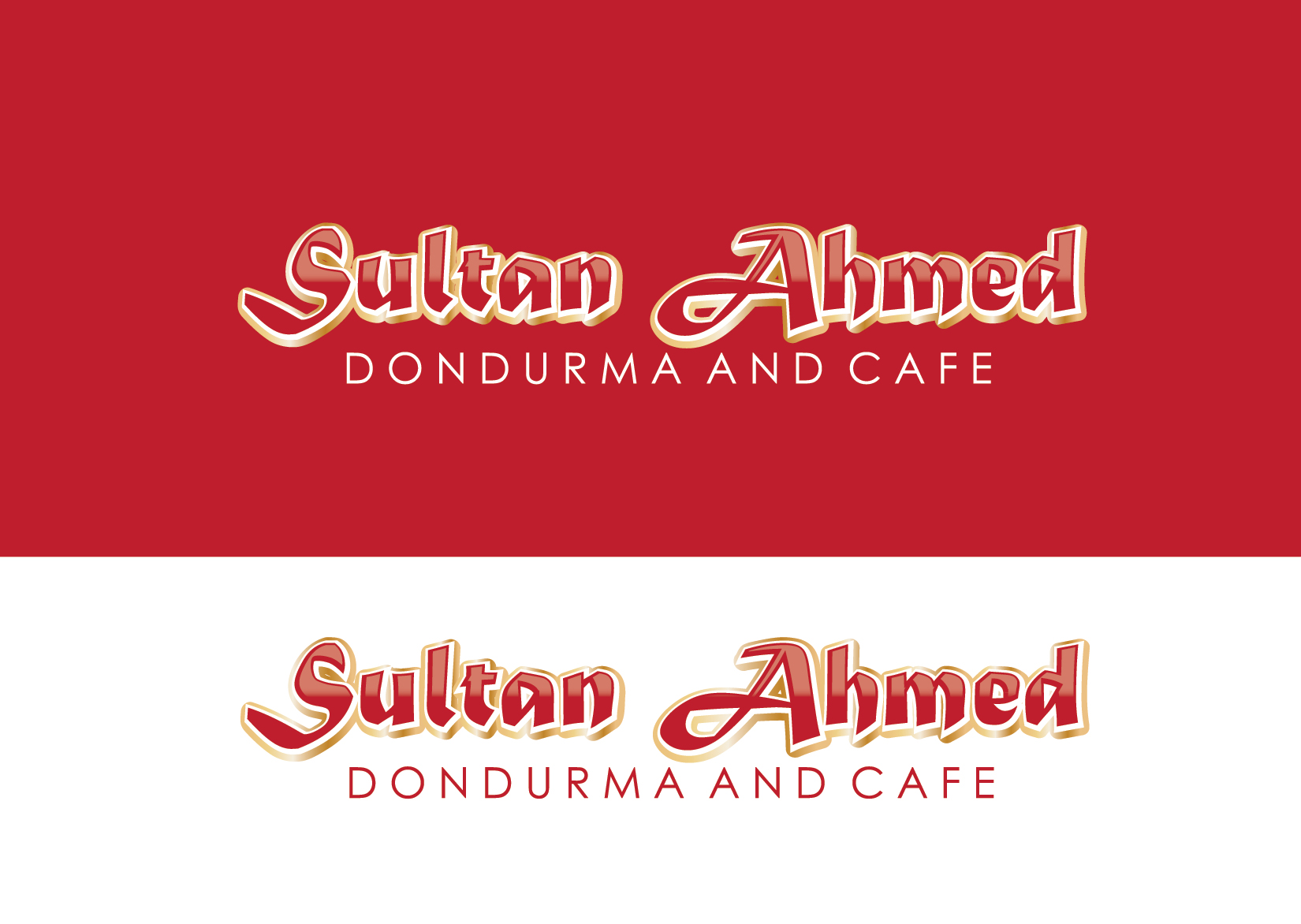 Logo Design by Milena Str - Entry No. 72 in the Logo Design Contest Unique Logo Design Wanted for Sultan Ahmed Dondurma and Cafe.