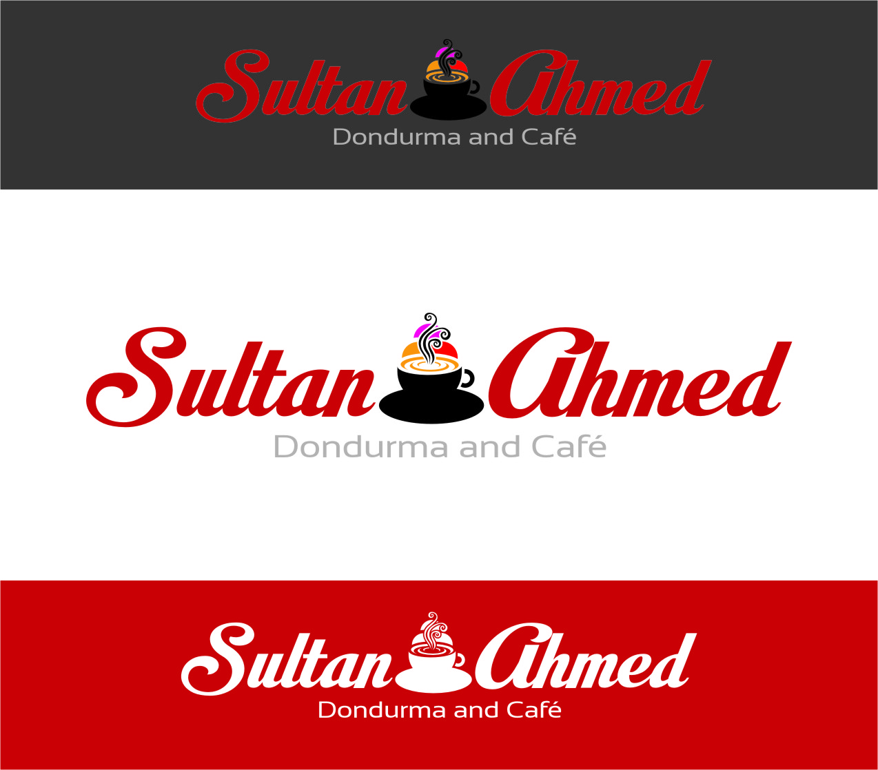 Logo Design by RasYa Muhammad Athaya - Entry No. 74 in the Logo Design Contest Unique Logo Design Wanted for Sultan Ahmed Dondurma and Cafe.