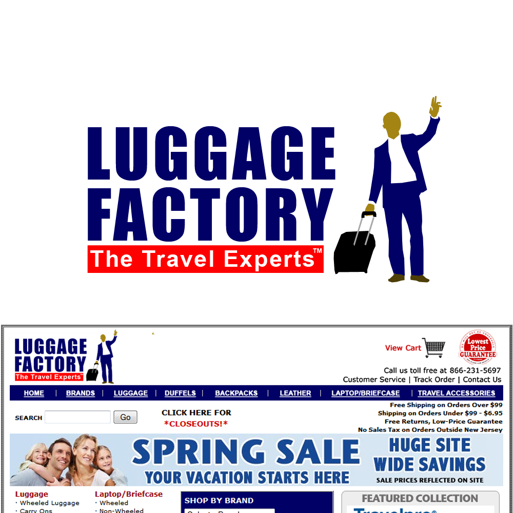 Logo Design by Brand_Man - Entry No. 232 in the Logo Design Contest Creative Logo Design for Luggage Factory.