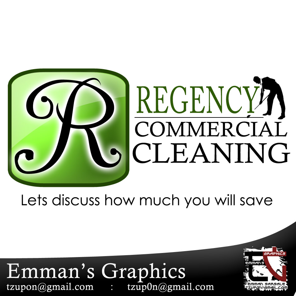 Logo Design by tzupon - Entry No. 6 in the Logo Design Contest Regency Commercial Cleaning.