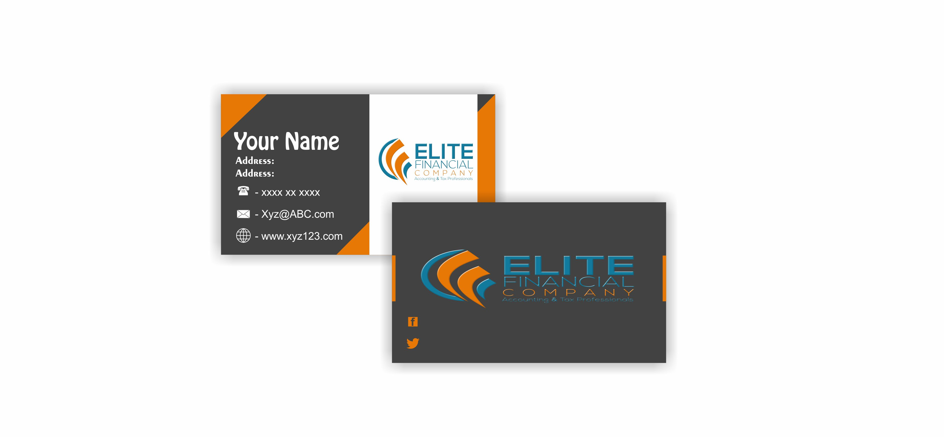 Single Sided Business Card Design Ideas