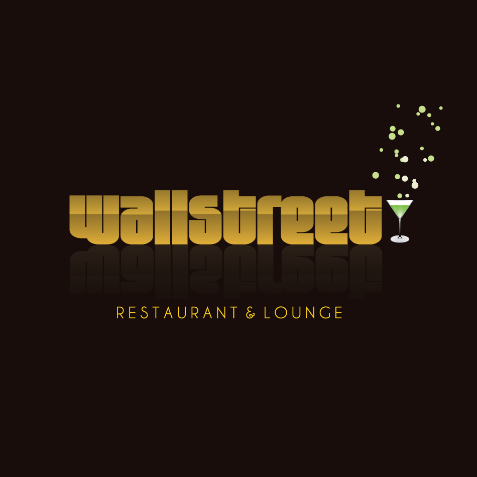 Logo Design by moonflower - Entry No. 10 in the Logo Design Contest Wallstreet Restaurant & Lounge.