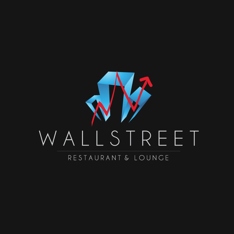 Logo Design by moonflower - Entry No. 15 in the Logo Design Contest Wallstreet Restaurant & Lounge.