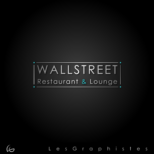 Logo Design by Les-Graphistes - Entry No. 17 in the Logo Design Contest Wallstreet Restaurant & Lounge.