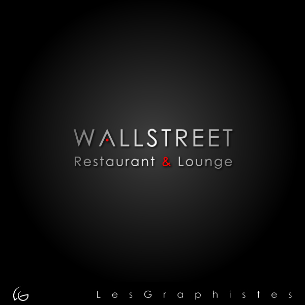 Logo Design by Les-Graphistes - Entry No. 20 in the Logo Design Contest Wallstreet Restaurant & Lounge.