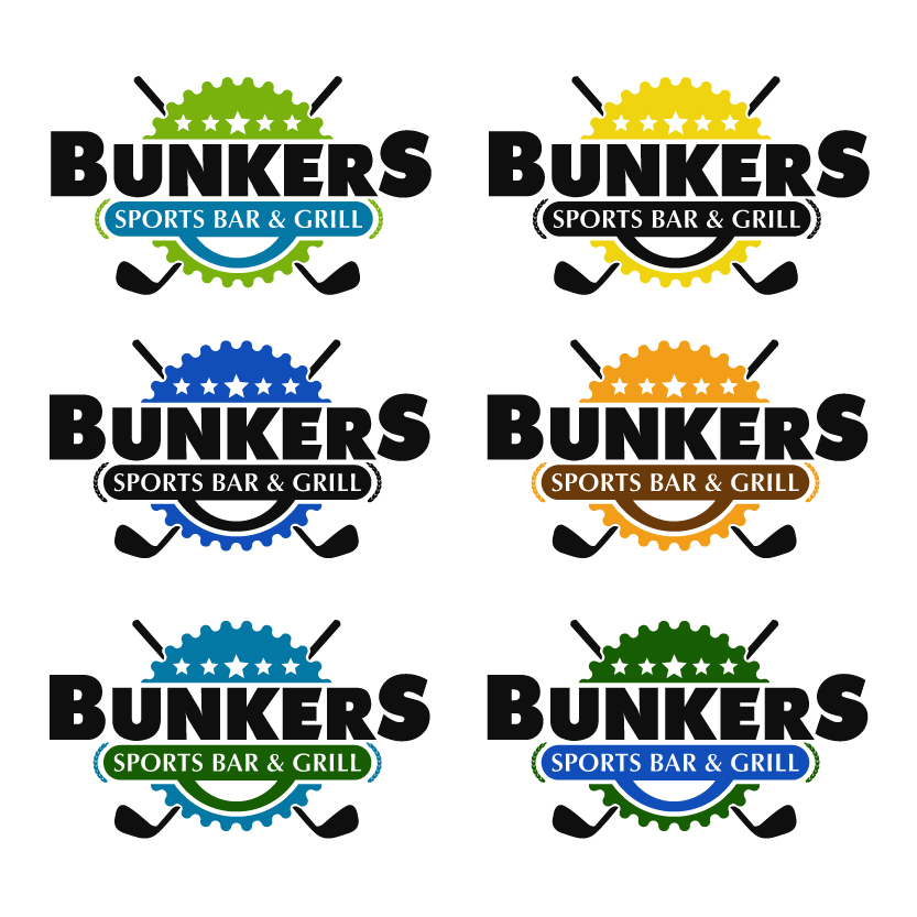 Logo Design by chAnDOS - Entry No. 19 in the Logo Design Contest Fun Logo Design for Bunkers Sports Bar & Grill.