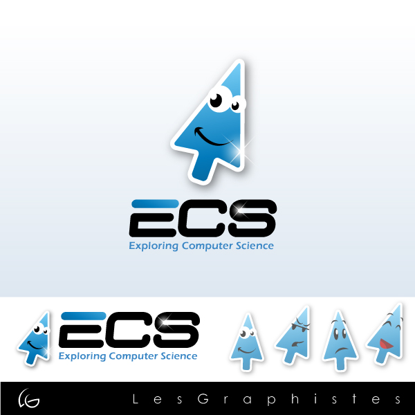 Logo Design by Les-Graphistes - Entry No. 1 in the Logo Design Contest ECS - Exploring Computer Science.