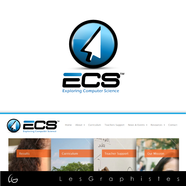 Logo Design by Les-Graphistes - Entry No. 2 in the Logo Design Contest ECS - Exploring Computer Science.