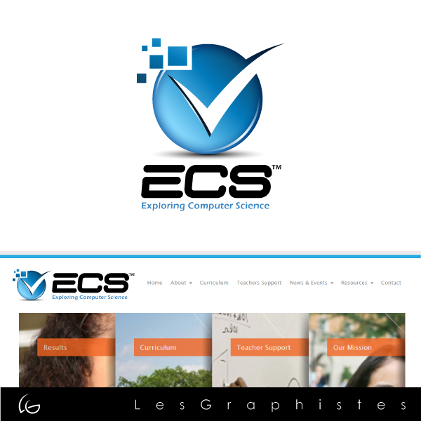 Logo Design by Les-Graphistes - Entry No. 3 in the Logo Design Contest ECS - Exploring Computer Science.