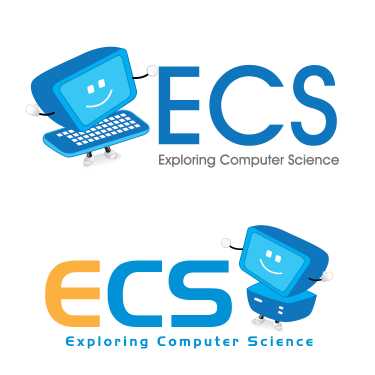 Logo Design by aesthetic-art - Entry No. 10 in the Logo Design Contest ECS - Exploring Computer Science.