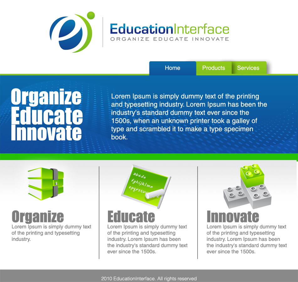Web Page Design by Avant - Entry No. 21 in the Web Page Design Contest Education Interface.