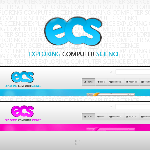 Logo Design by rockpinoy - Entry No. 49 in the Logo Design Contest ECS - Exploring Computer Science.