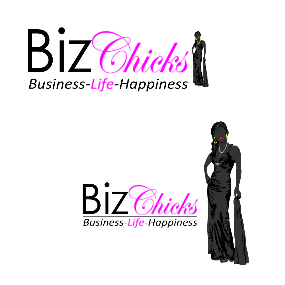 Logo Design by Saunter - Entry No. 27 in the Logo Design Contest BizChicks e-magazine.