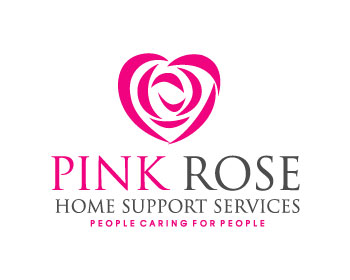 Logo Design by logogeek - Entry No. 147 in the Logo Design Contest Pink Rose Home Support Services.