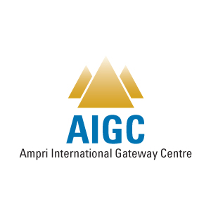 Logo Design by krneki9 - Entry No. 11 in the Logo Design Contest Ampri International Gateway Centre (AIGC).