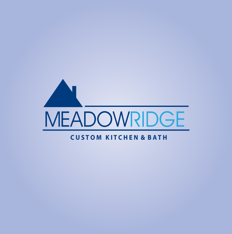 Logo Design by moonflower - Entry No. 7 in the Logo Design Contest Meadow Ridge Custom Kitchen & Bath.