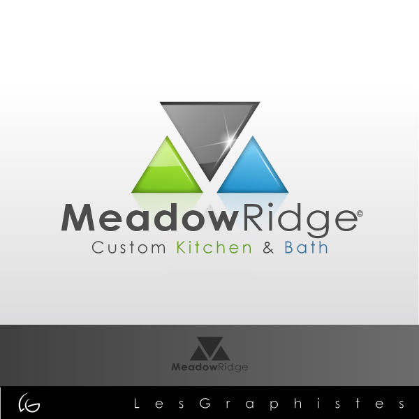 Logo Design by Les-Graphistes - Entry No. 11 in the Logo Design Contest Meadow Ridge Custom Kitchen & Bath.