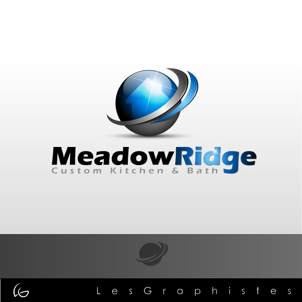 Logo Design by Les-Graphistes - Entry No. 12 in the Logo Design Contest Meadow Ridge Custom Kitchen & Bath.