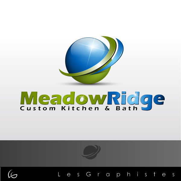 Logo Design by Les-Graphistes - Entry No. 13 in the Logo Design Contest Meadow Ridge Custom Kitchen & Bath.