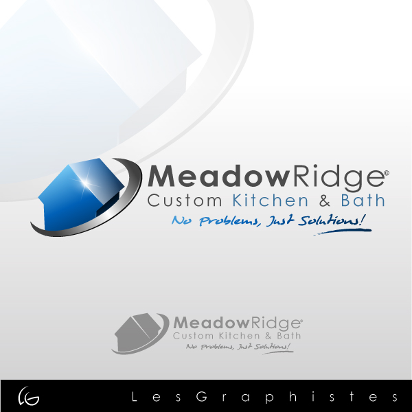 Logo Design by Les-Graphistes - Entry No. 14 in the Logo Design Contest Meadow Ridge Custom Kitchen & Bath.