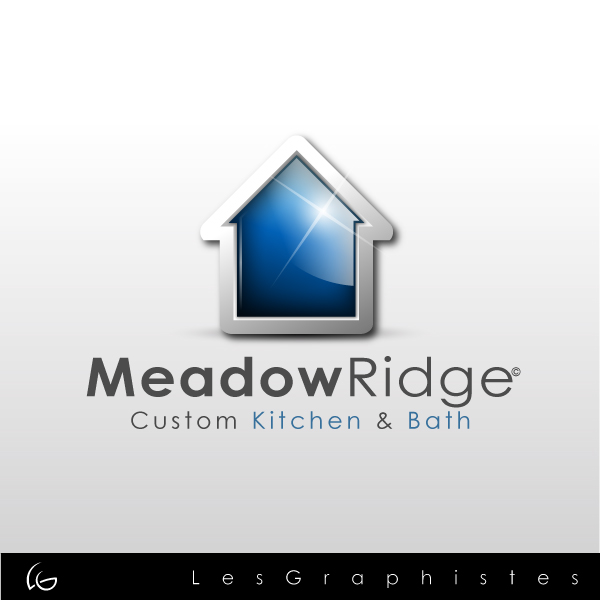 Logo Design by Les-Graphistes - Entry No. 15 in the Logo Design Contest Meadow Ridge Custom Kitchen & Bath.