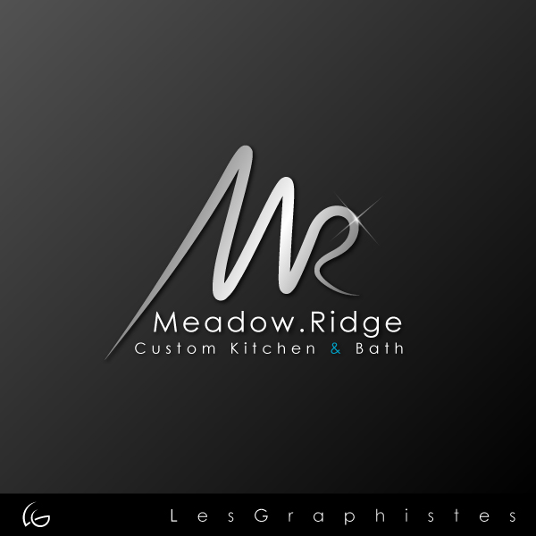 Logo Design by Les-Graphistes - Entry No. 18 in the Logo Design Contest Meadow Ridge Custom Kitchen & Bath.