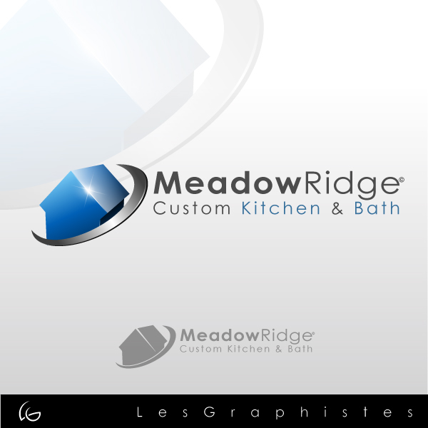 Logo Design by Les-Graphistes - Entry No. 20 in the Logo Design Contest Meadow Ridge Custom Kitchen & Bath.