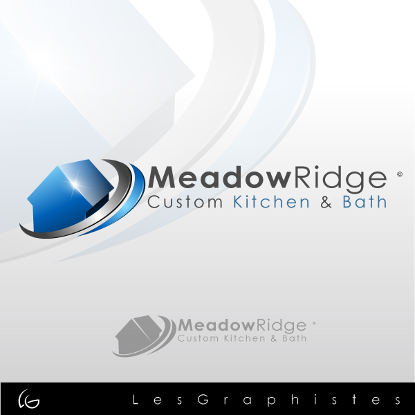 Logo Design by Les-Graphistes - Entry No. 21 in the Logo Design Contest Meadow Ridge Custom Kitchen & Bath.