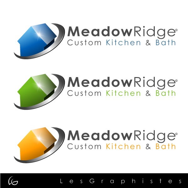 Logo Design by Les-Graphistes - Entry No. 22 in the Logo Design Contest Meadow Ridge Custom Kitchen & Bath.
