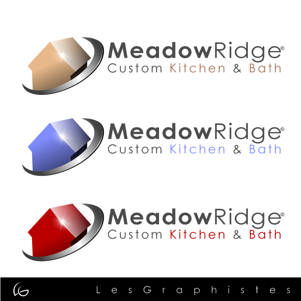 Logo Design by Les-Graphistes - Entry No. 23 in the Logo Design Contest Meadow Ridge Custom Kitchen & Bath.