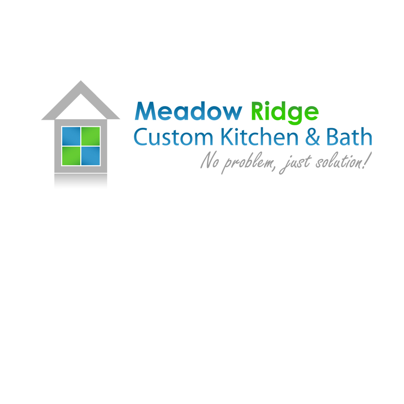 Logo Design by zams - Entry No. 25 in the Logo Design Contest Meadow Ridge Custom Kitchen & Bath.