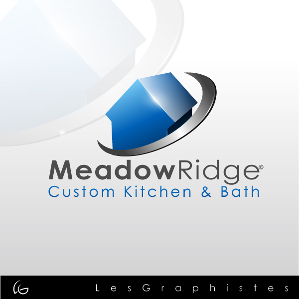 Logo Design by Les-Graphistes - Entry No. 29 in the Logo Design Contest Meadow Ridge Custom Kitchen & Bath.