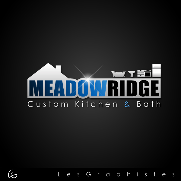 Logo Design by Les-Graphistes - Entry No. 46 in the Logo Design Contest Meadow Ridge Custom Kitchen & Bath.
