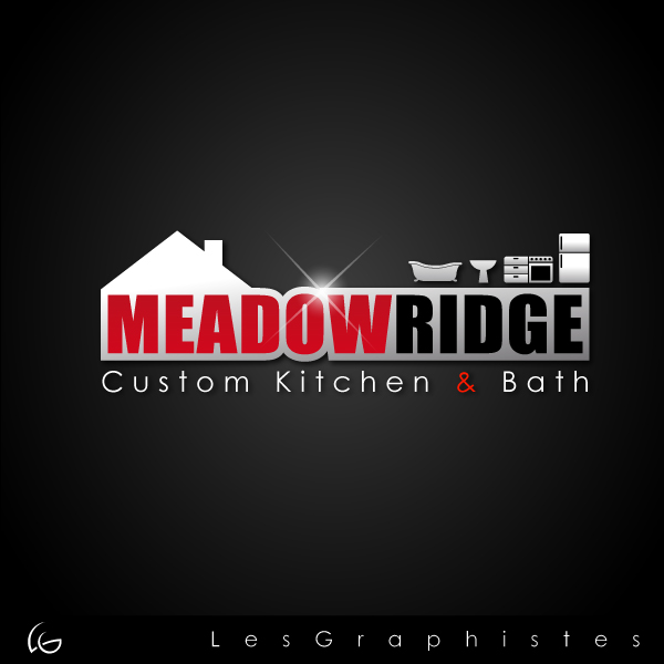 Logo Design by Les-Graphistes - Entry No. 47 in the Logo Design Contest Meadow Ridge Custom Kitchen & Bath.