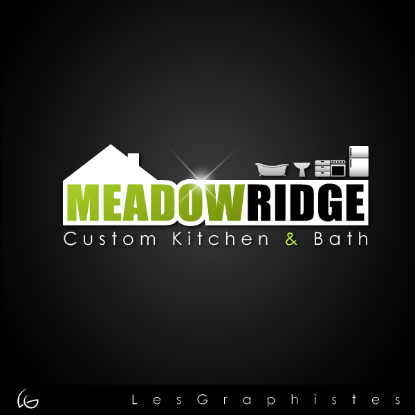 Logo Design by Les-Graphistes - Entry No. 48 in the Logo Design Contest Meadow Ridge Custom Kitchen & Bath.